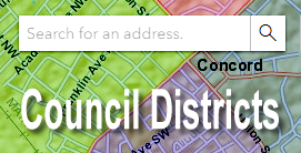 Search Council Districts map